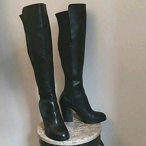 Black Aldo Over The Knee High Heel Boots